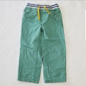 Baby Mini Boden boys green pants
